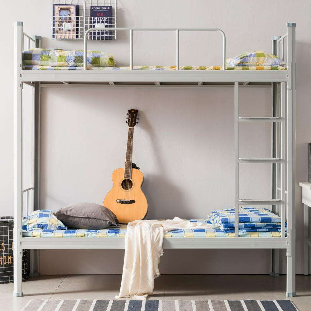 High Quality Low Price Military Metal Bunk Bed School Furniture Dormitory Bed Frames Hostel Metal Beds