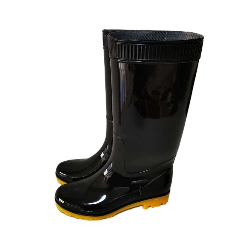 cheaper Plastic Rubber Rain Boots Waterproof Farmer shoes Safety PVC Gumboots