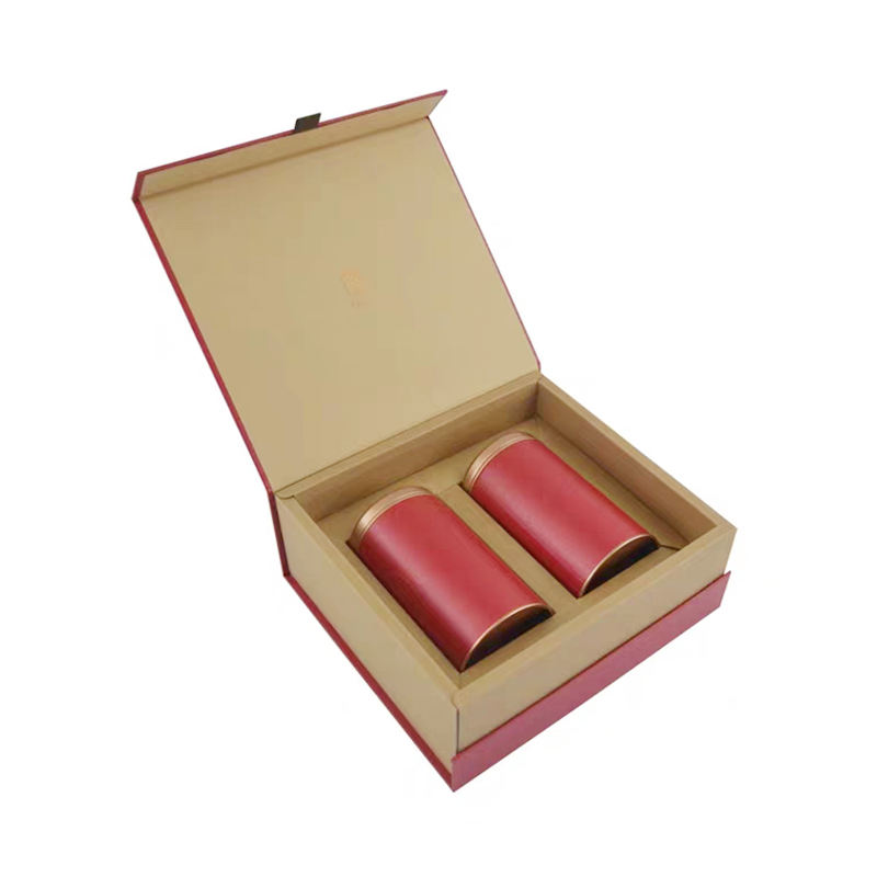 Recyclable Feature and Kraft Paper Paper Type custom magnetic packaging box for Tea and Jam Packaging