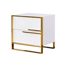 Modern Black/white Bed room Tables Luxury Bedside Table cabinet