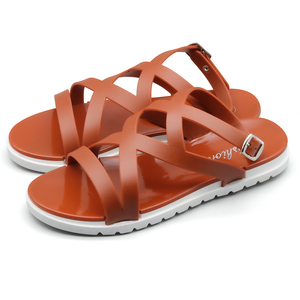 Summer women's fashion sandals pvc flat jelly sandals new personality design girls sandals factory outlet