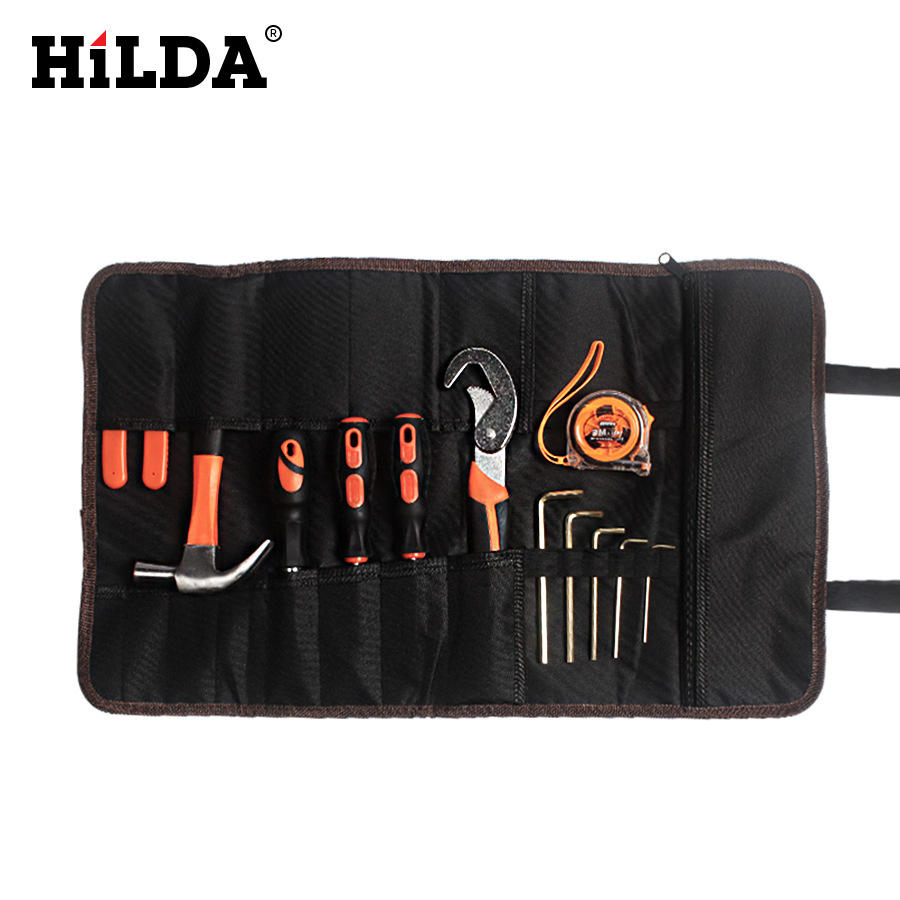 Wholesale Custom 2019 New Style Professional Electrical Polyester hand Tool Bag Electrician Toolkits with Hard Bottom