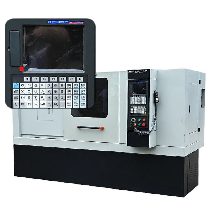 Stainless Steel Digital Terkenal Balik Horisontal Mesin Bubut Cnc