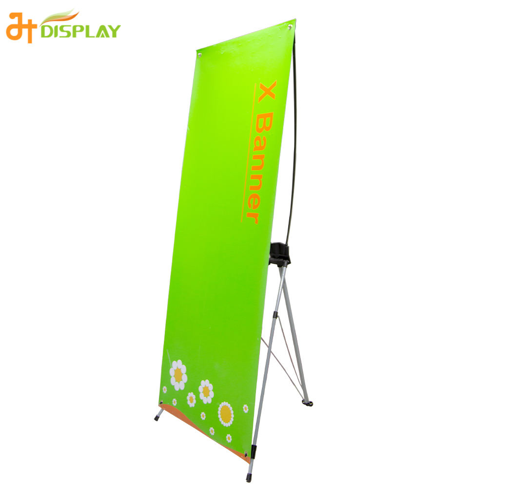 China Budget Advertising Portable Model C-1 Flex Vinyl X banner stand