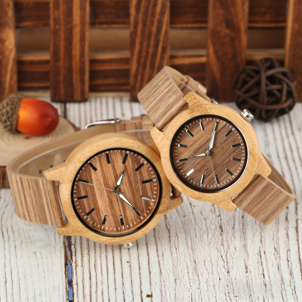 Wholesale Custom Logo Cork Wooden Watches Couple for Men and Women