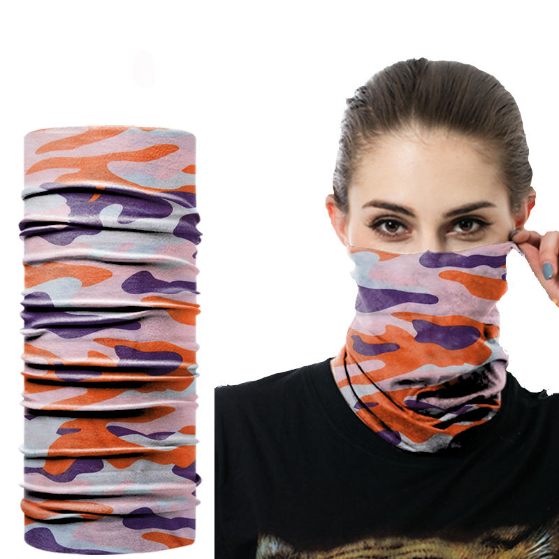 Breathable Outdoor Cheap Polyester Sports Headwear Bandana Oganic Cycle Customised Face-Mask