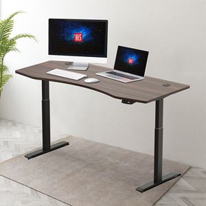 wholesale Dual Motor Two Stage Frame-Black height adjustable standing desk