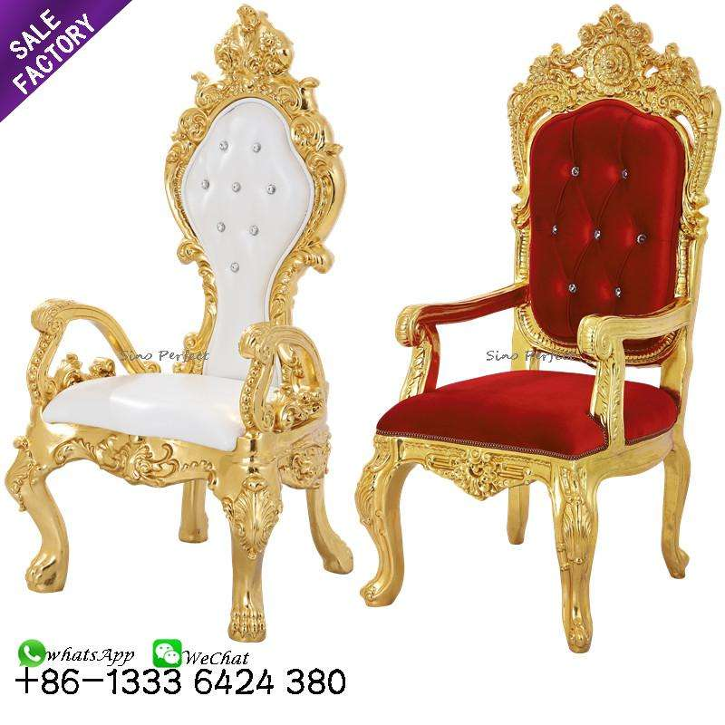 Supply China luxury wholesale throne royal sofa chairs wedding and event