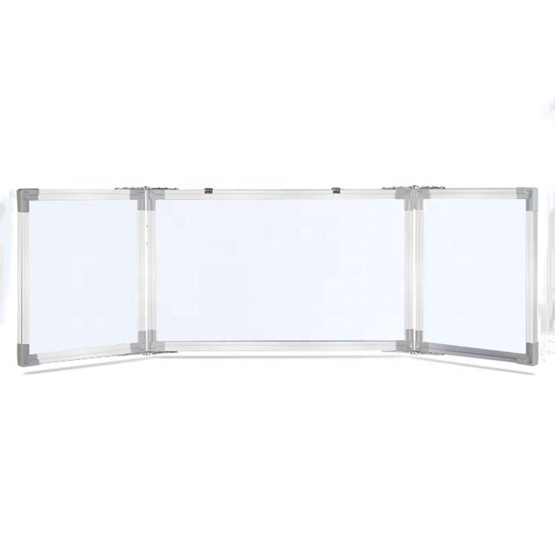 Hot Sale Custom School Office Magnetic Dry Erase Folding Whiteboard in Aluminium Frame