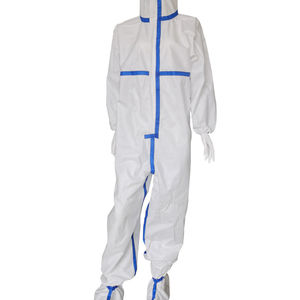 High quality disposable waterproof clothing safety equipment coverall suit full body isolation gown Non-woven