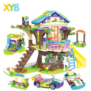 High quality Building Blocks Girls Mia Adventure Tree House Stacking Bricks Compatible Legoinglys Friends Kids Toys for Children