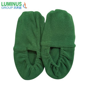 Cat pattern knitted microwave heat pack slippers feet warmer