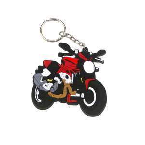 Personalized Custom Shape 2d Mini Cute Car Logo Soft Pvc Keychain with light