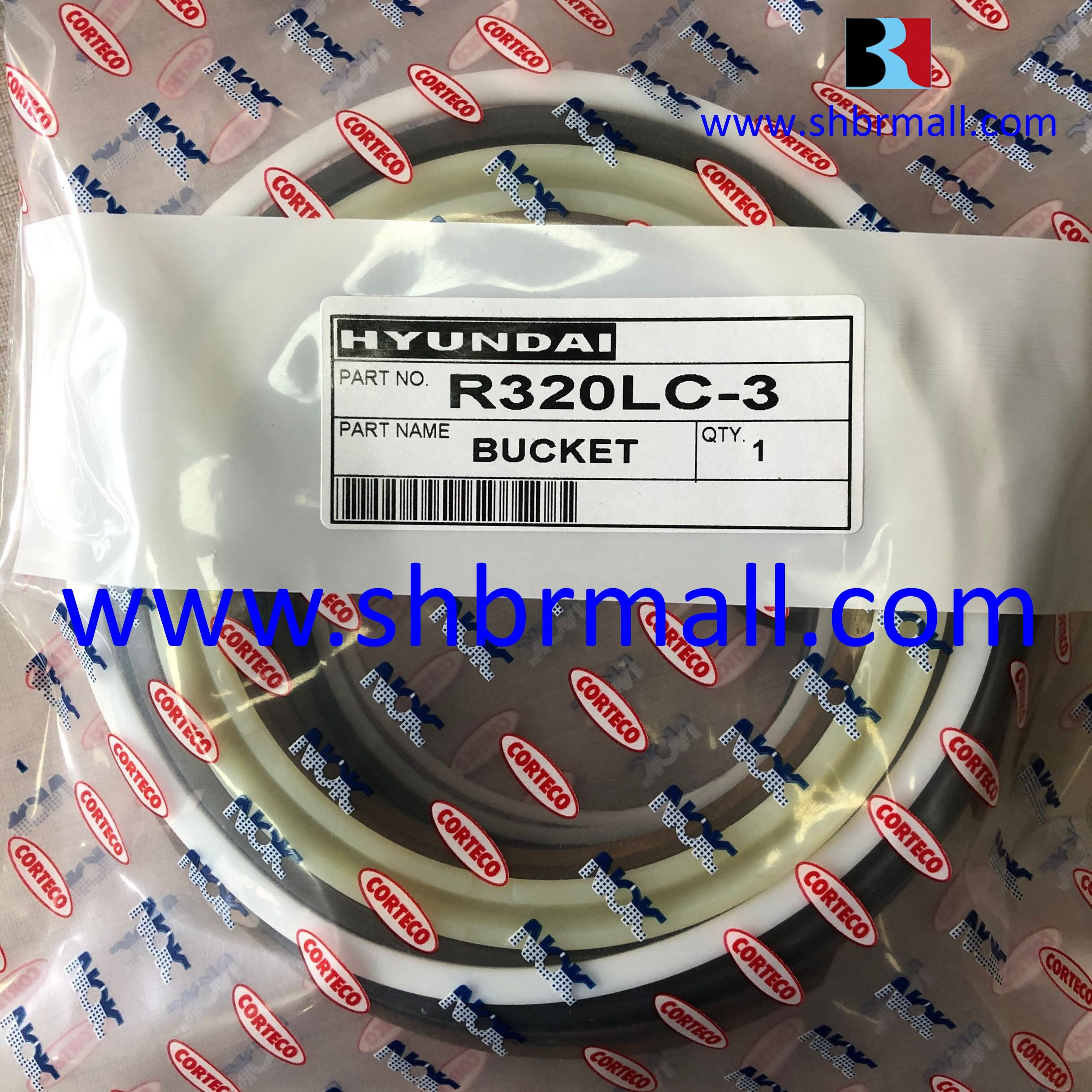 Hydraulic Cylinder Bucket Seal Kits For Hyundai R320LC-3 Excavators