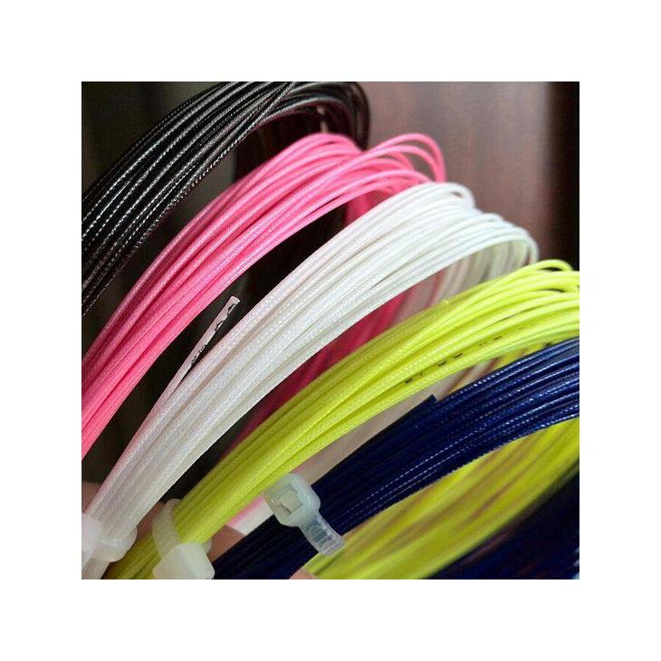 Factory price wholesale badminton racket string brand 200m durable 26lbs in bulk stock ready to ship white mix colors