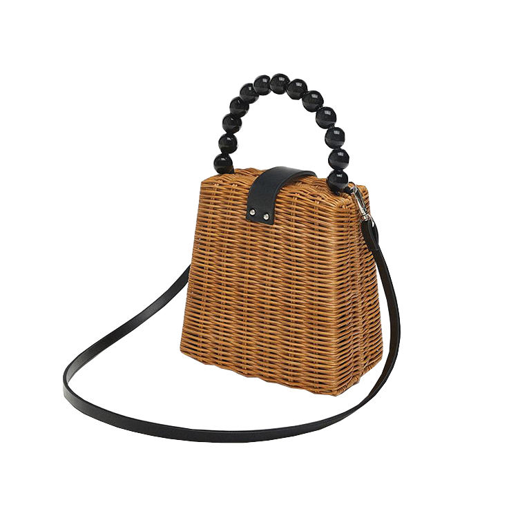 Super September hot sale beach straw bag personalized rattan leisure package mini round bali lady straw bag