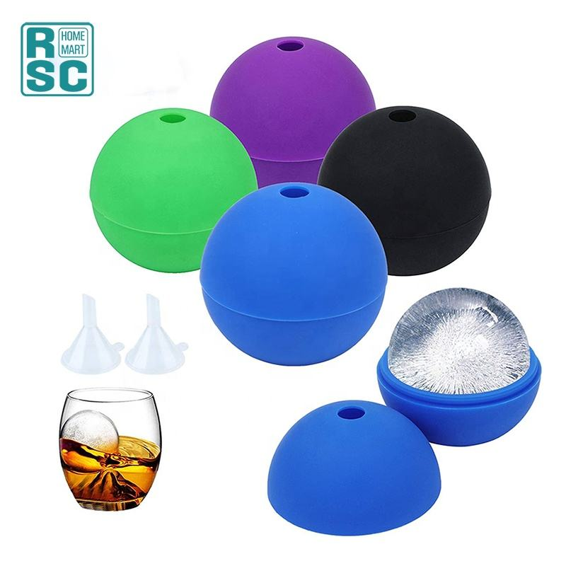 Silicone Round Ice Ball Mold Maker for Whiskey Ice Ball Maker Food Grade and BPA Free
