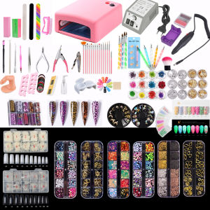Professional economics Nail Drill UV Lamp Curing nail art tool Kit