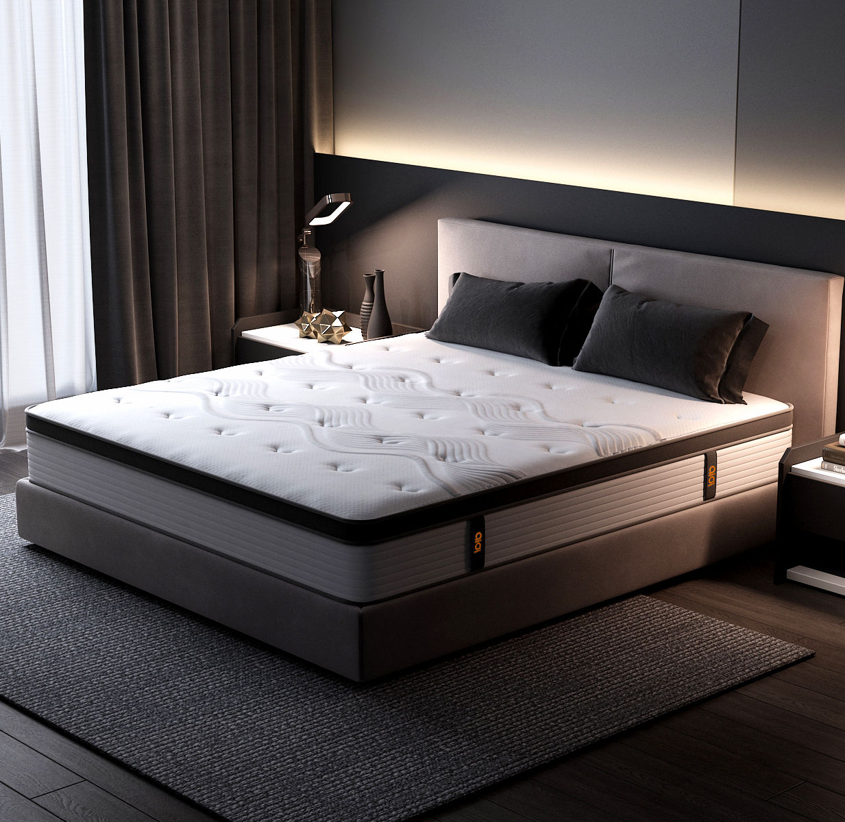 King Size Memory Foam 5 Zone Pocket Coil Spring Mattress For Online Selling Store And Hotel Furniture