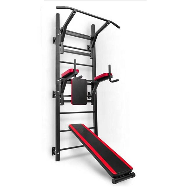 gym equipment wall mounted power tower with pull up bar dip station HRAT32
