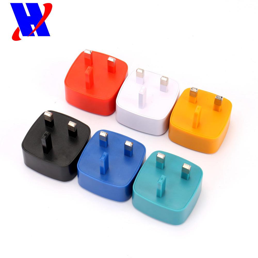 230 V-240 V İNGILTERE tak 7 Renk ac dc USB şarj aleti 5 v 500ma 800ma 1a 1.5a 2a 2.1a 2.4a 2.5a 3a usb güç adaptörü