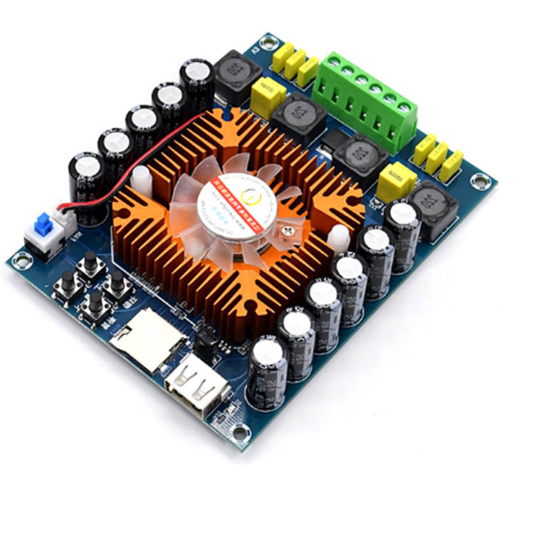 XH-A120 digital power amplifier board TDA7498E support U disk TF cassette remote control double 160W