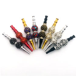 Diamond Bead Hookah Mouthtip Stock Hot Sell Hookah Accessories water pipe smoking accessories glass pipes