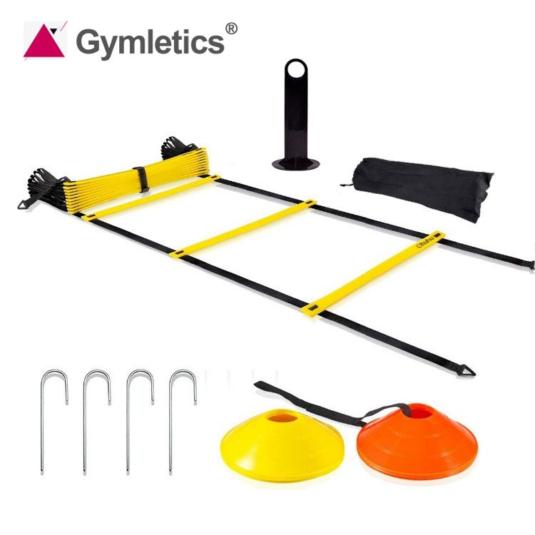 Speed Training Rubber Agility Ladder Speed Cones Training Set with Carry Bag