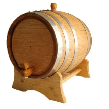 OAK wood decorative craft mini wine storage 3l barrel with lid ibei