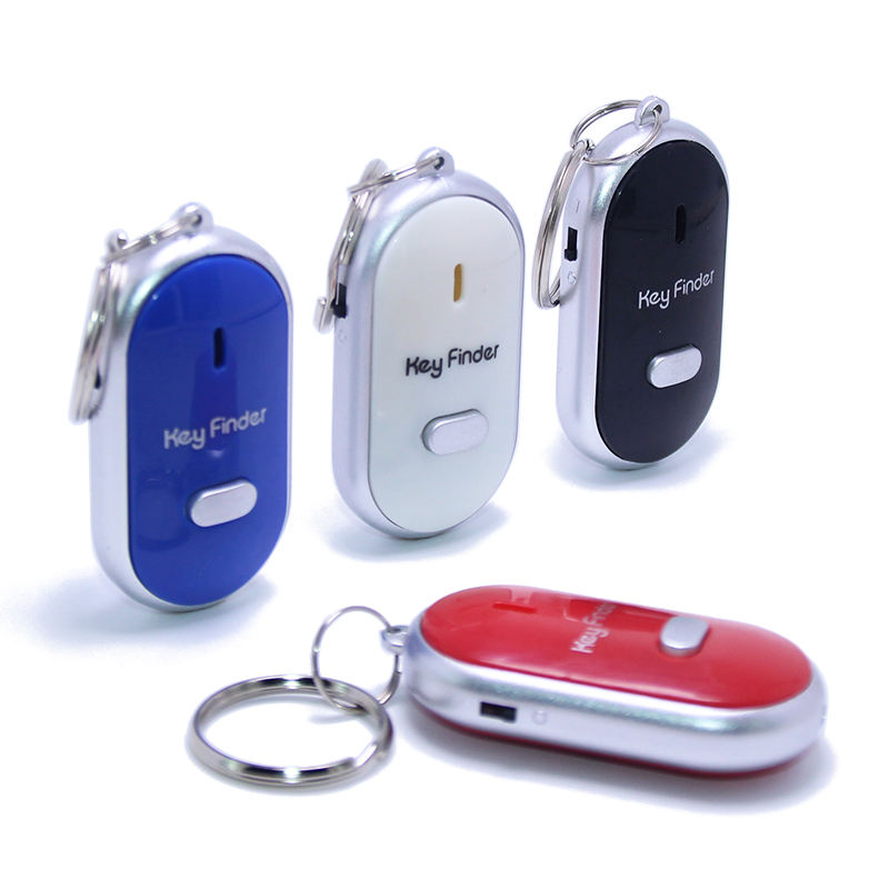 Promotion Electronic Keychain Switch LED Light Flashing Beeping Remote Lost Keyfinder Locator Key Chain Ring Whistle Key Finder