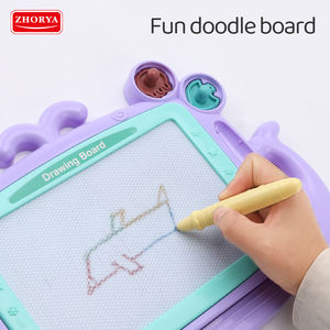 cartoon kid colour baby children portable educational magnetic writing drawing board toy erasable