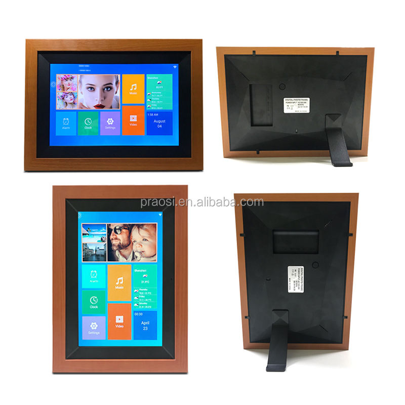PROS new Model WiFi Digital Photo Frame 10 inch IPS Touch Screen HD Display, 16GB Storage Share Photos via App, Email, Cloud