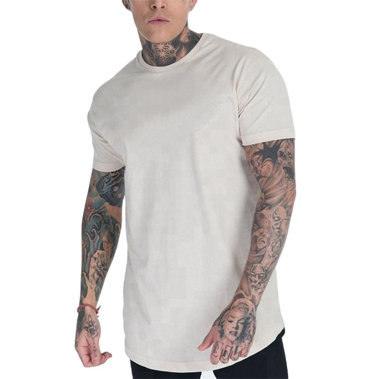 Dry Fit 95% Cotton 5% Spandex Lightweight Scoop Bottom Cut T Shirts Wholesale
