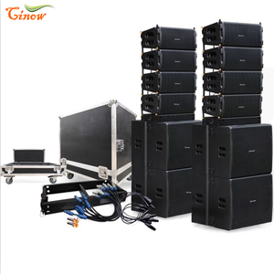 Cinow 2020 new design dual 12inch Active line array with dsp inside for each full range and subwoofer