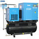 Compressor Belt Drive Compressors 5HP 3.7Kw Belt Drive Oil Injected Integrated Mobile Screw Air Compressor For Packing Machine