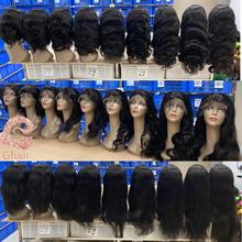 Free sample HD lace closure Wig with Raw brazilian cuticle aligned virgin Human hair