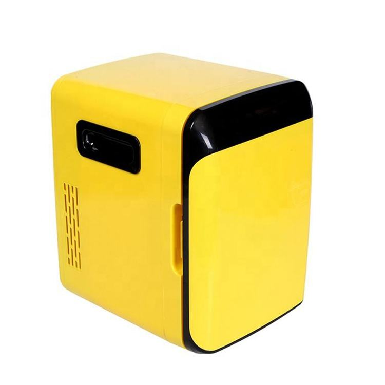10L 10 liter DC 12V AC 100V 240V Yellow Available Portable Small Refrigerator Hotel Bar Cosmetic Make Up Car Fridge Mini