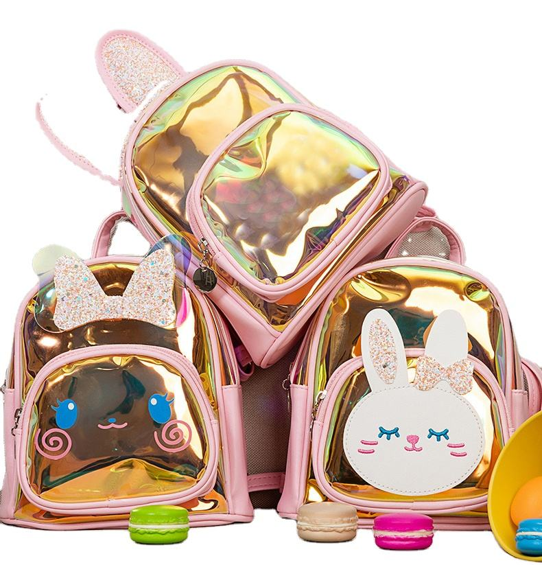 Explosion Durable Holographic Colorful Backpack Cute Kindergarten Pupils Mini School Kids Bags