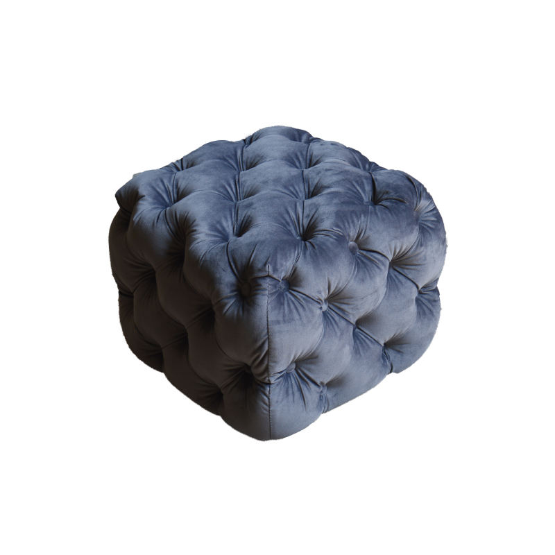 High quality fabric dark gray furniture stool ottoman