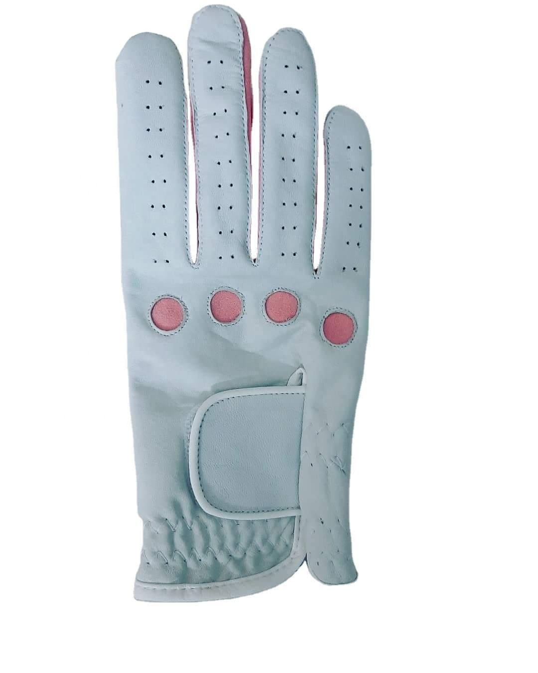 Soft golf glove in sheep leather with different material, colors, designs available in SFJ