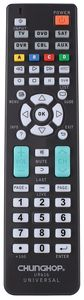 Chunghop 6 in 1 UR616 SAT DVD DVR TV Universal infrared Remote Control