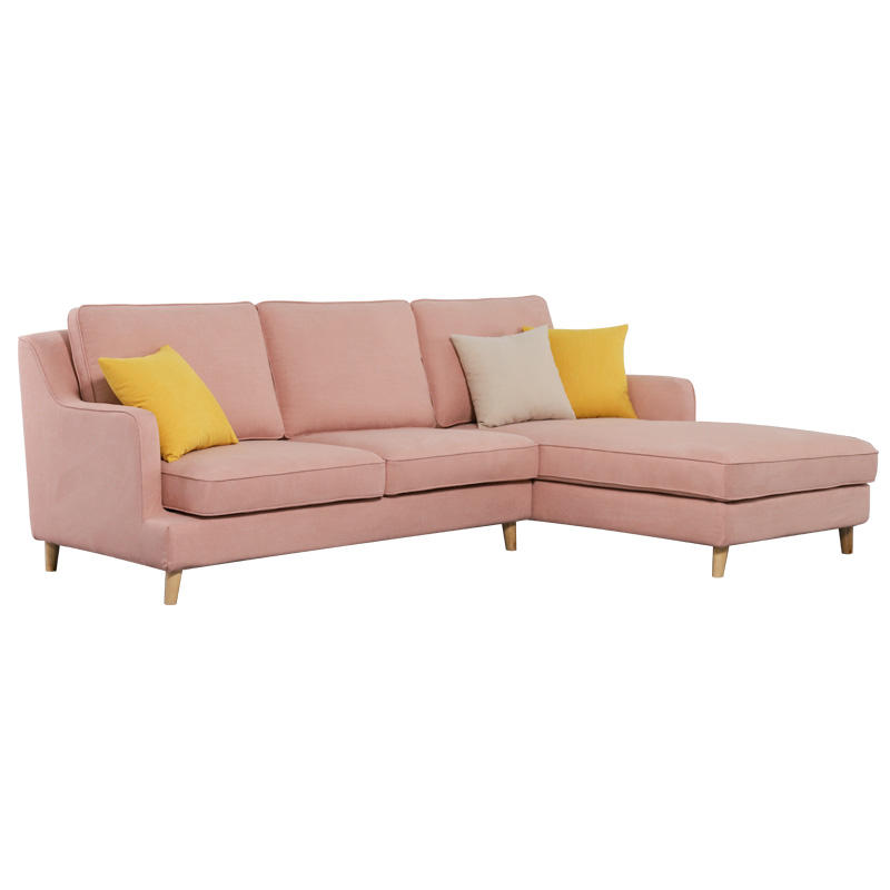 Modern futon pink fabric modular living room sofas lounges and sofas furniture