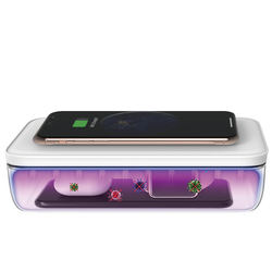 UV-C Light Home Portable Mobile Phone Ultraviolet Sterilizing Sanitizer Detachable Wireless Charger UV Sterilizer Box