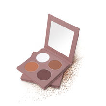 Private label 4 color make-up contour palette  high-gloss shadow rouge makeup make-up cookie  custom wholesale