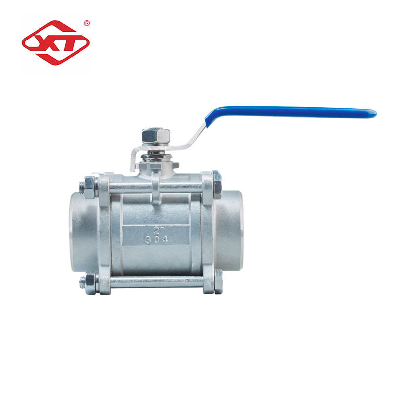 Size can be customized stationary Three-piece screw ball valve high pressure ball valve