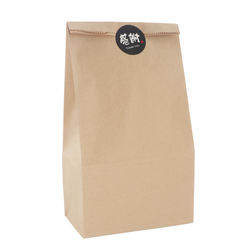 China manufacture luxury gift coated fine kraft paper square bottom bag