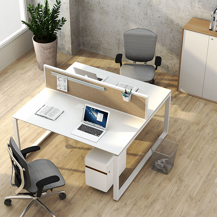 Wholesaler Factory Price Modern Double Sided Face To Face Staff Workstation 2 seat office desk