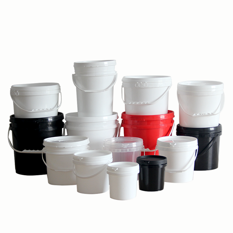 1L ~ 50L Food Grade containers plastic buckets with handle and lid
