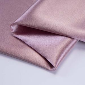 high quality 100%polyester Crystal Satin Silk satin fabric for Full dress wedding