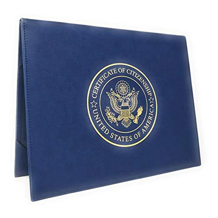 U.S. Citizenship Certificate Holder and Naturalization Certificate Cover Case Folder Frame Unique for New American Citizens